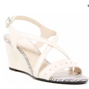 Calvin Klein Pamilla Wedge Sandal, Soft White